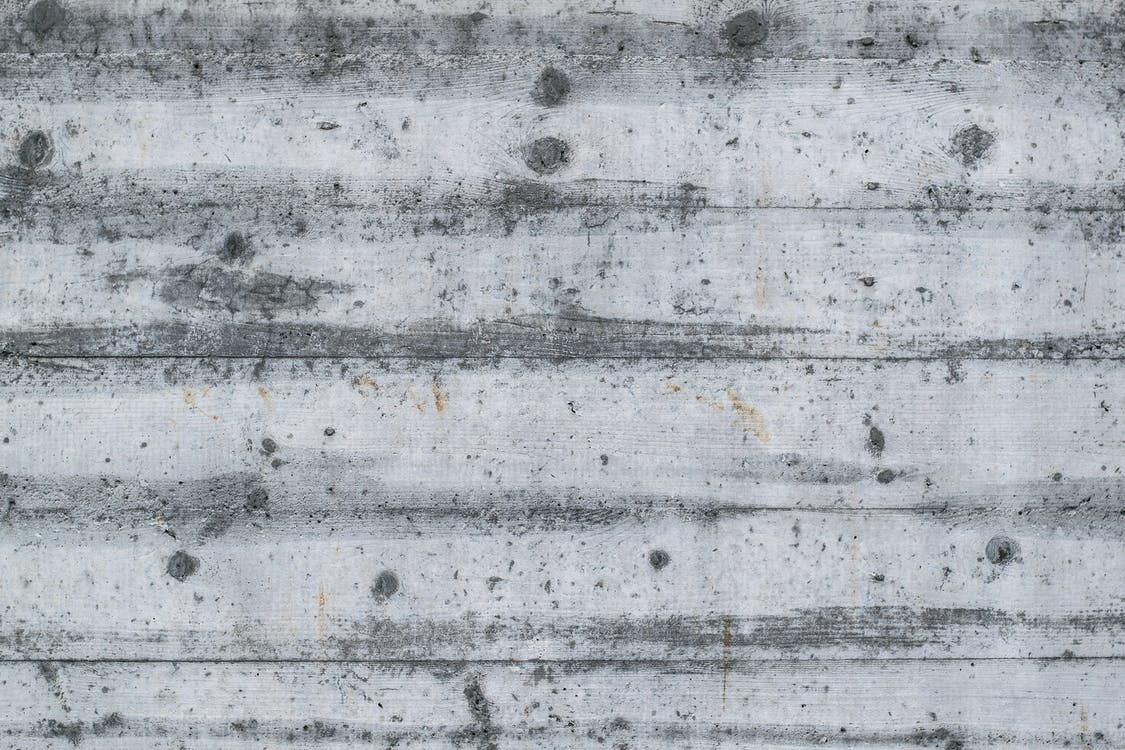 betong, grå, grov