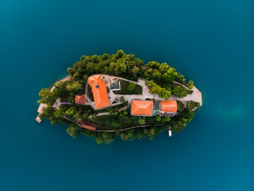 Gratis lagerfoto af arkitektur, blåt vand, droneoptagelse, hav