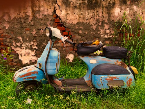 Free stock photo of nature, rust, scooter, vintage