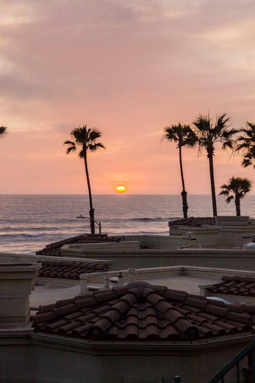 Scenic Photo Of Sunset