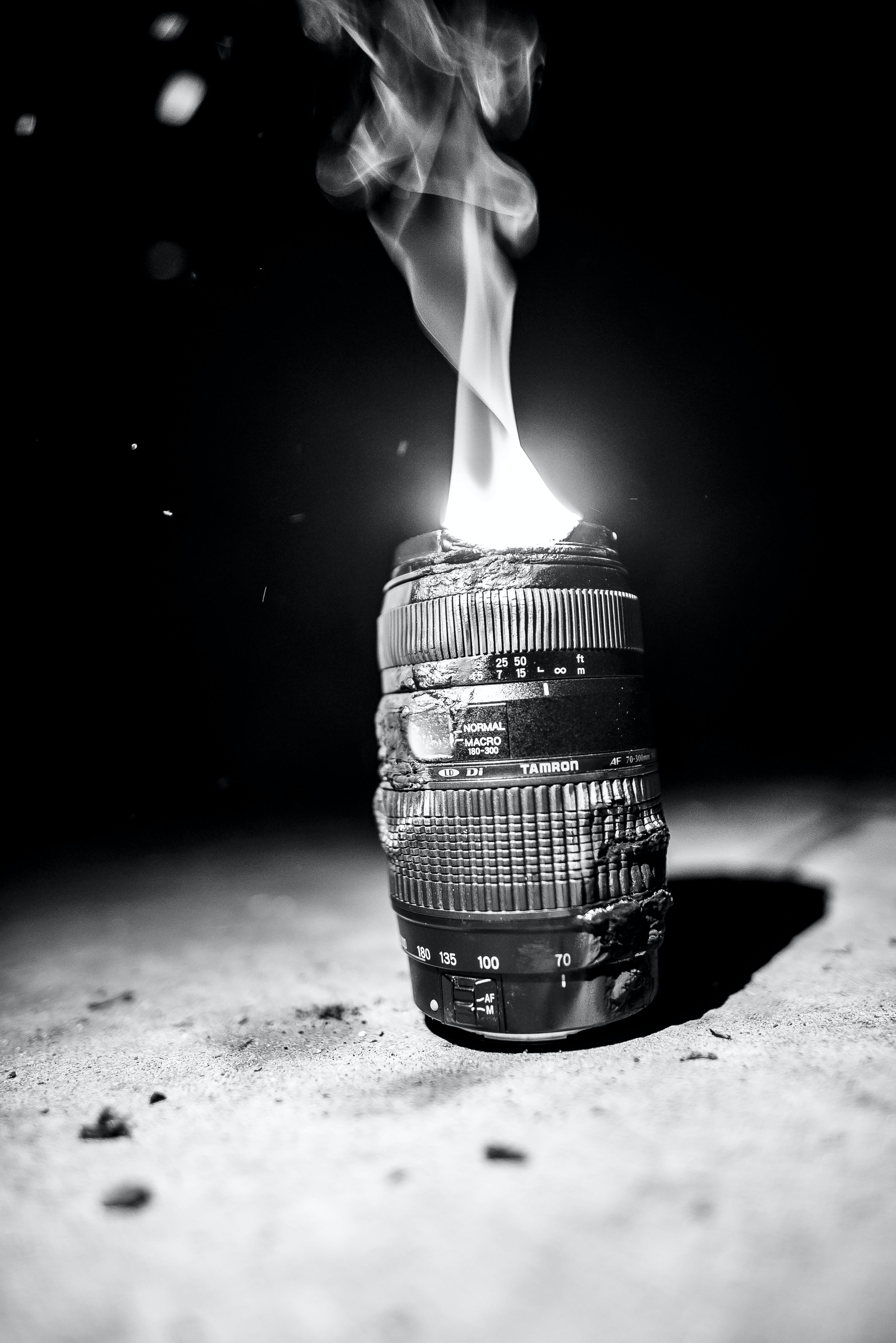 Free stock photo of burn, camera lens, macro