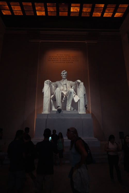 Free stock photo of abraham lincoln, lincoln, lincoln memorial