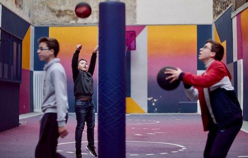 Free stock photo of balloon, baseball players, basketball, basketball player
