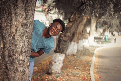 Бесплатное стоковое фото с афро-американец, дерево, мужчина, портрет
