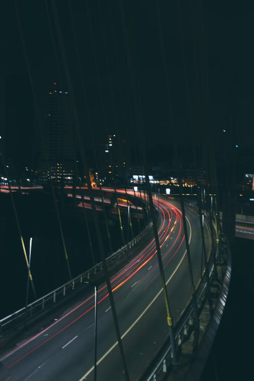 Time Lapse Photography of Road during Night Time