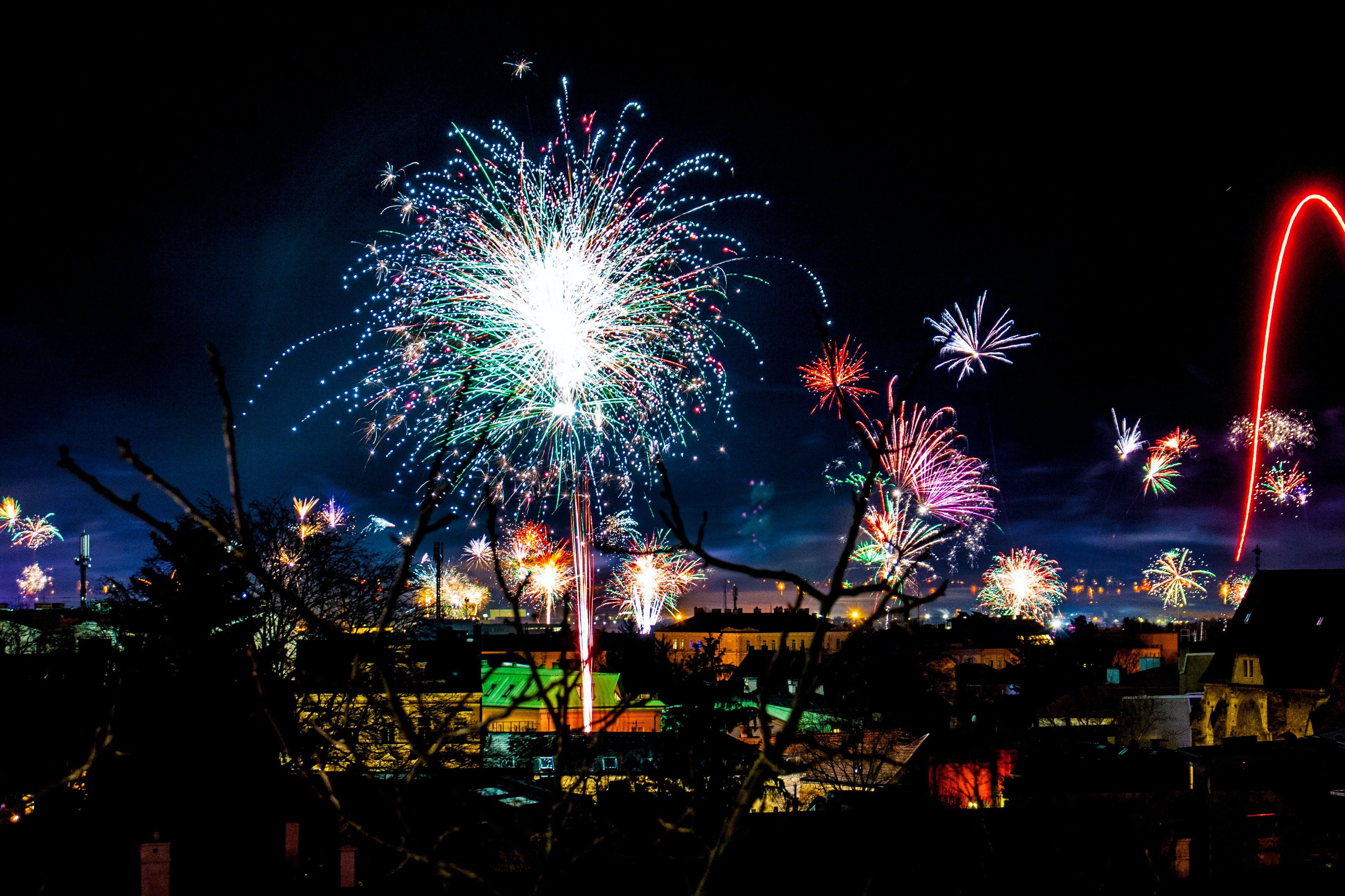 Assorted-color Fireworks Show