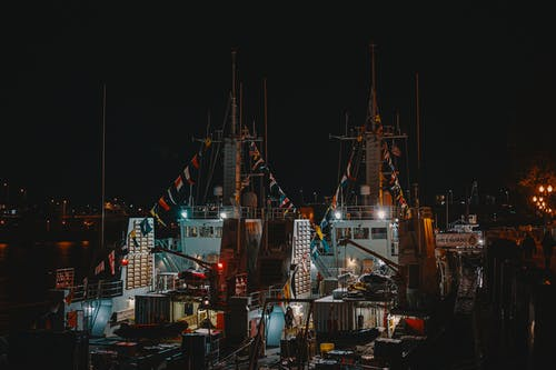 Ingyenes stockfotó csónakok, dokk, este, hajógyár témában