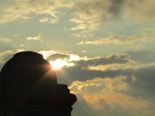 Photos gratuites de jaune, nuage, soir, soleil doré