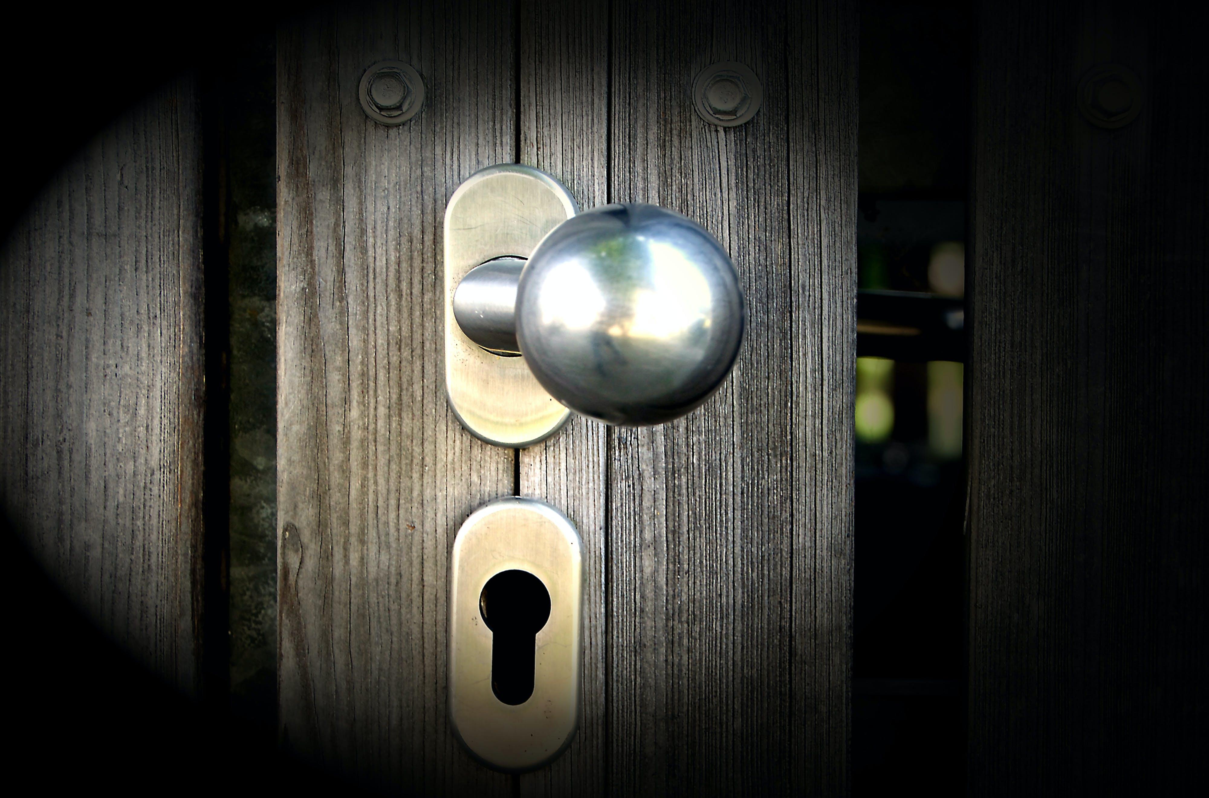 Silver Door Knob and Deadbolt