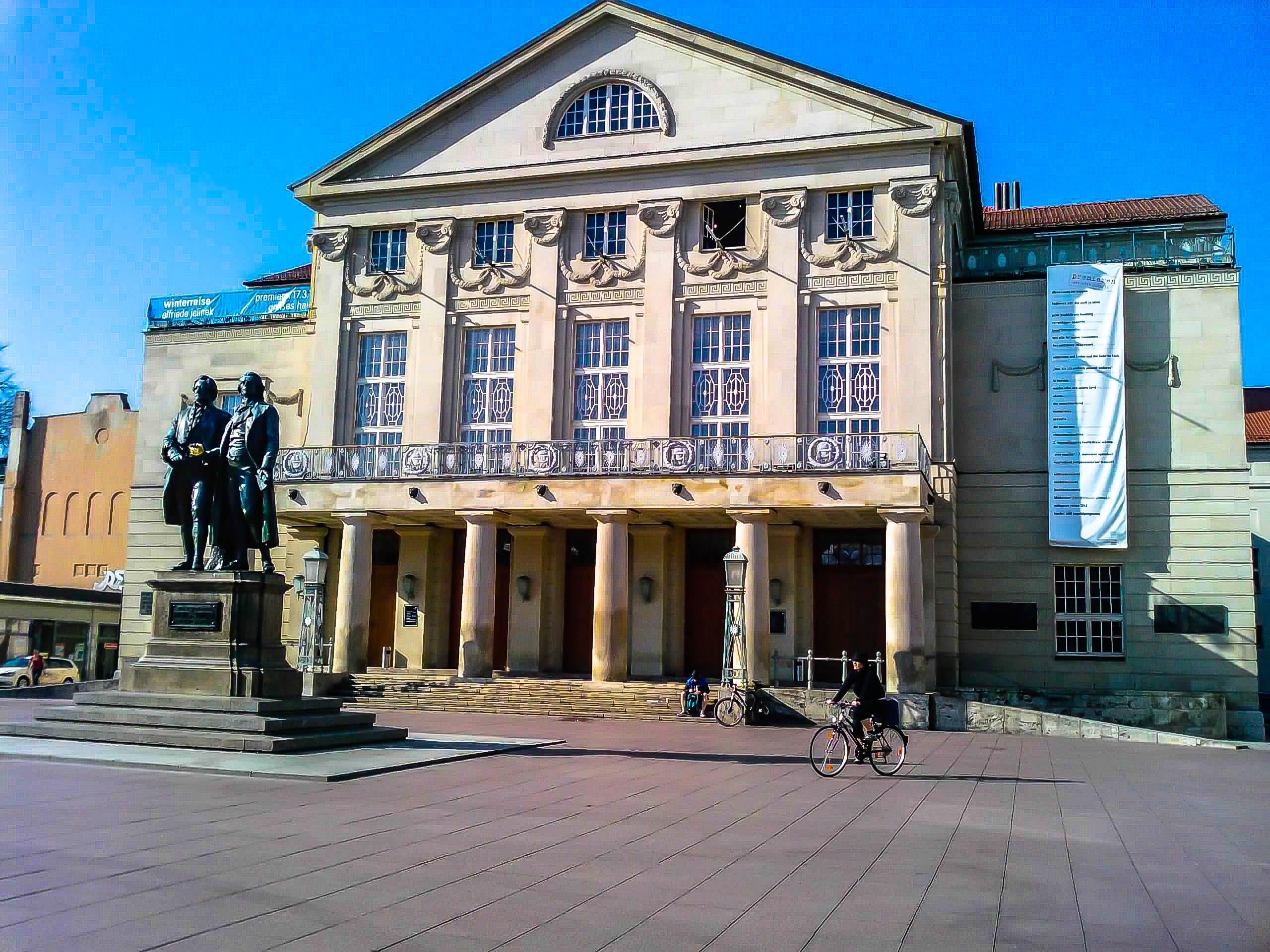 Free stock photo of Theaterplatz Weimar, Deutsches Nationaltheater