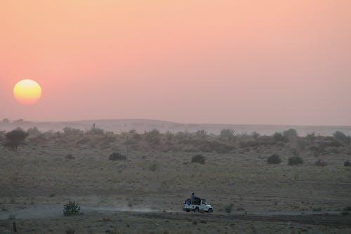 日落, 景觀, 沙丘, 非洲狩獵旅行 的 免费素材照片