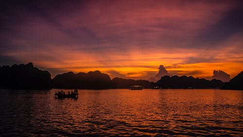 Gratis lagerfoto af ha lang bay, lan ha bay, smuk solnedgang
