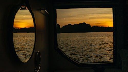 คลังภาพถ่ายฟรี ของ พระอาทิตย์ตกที่สวยงาม
