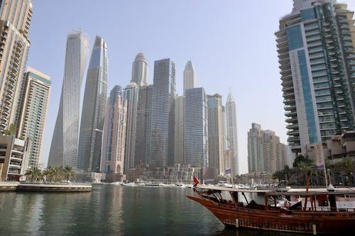 Foto stok gratis bahtera, dubai, gedung menara, marina dubai