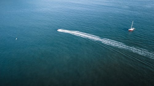 Speedboat in Sea
