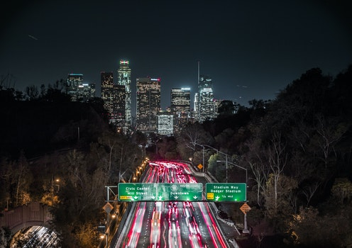 Free stock photo of light, city, road, traffic