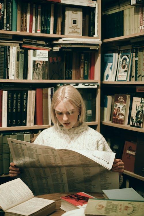 biblioteca, coneixement, diari