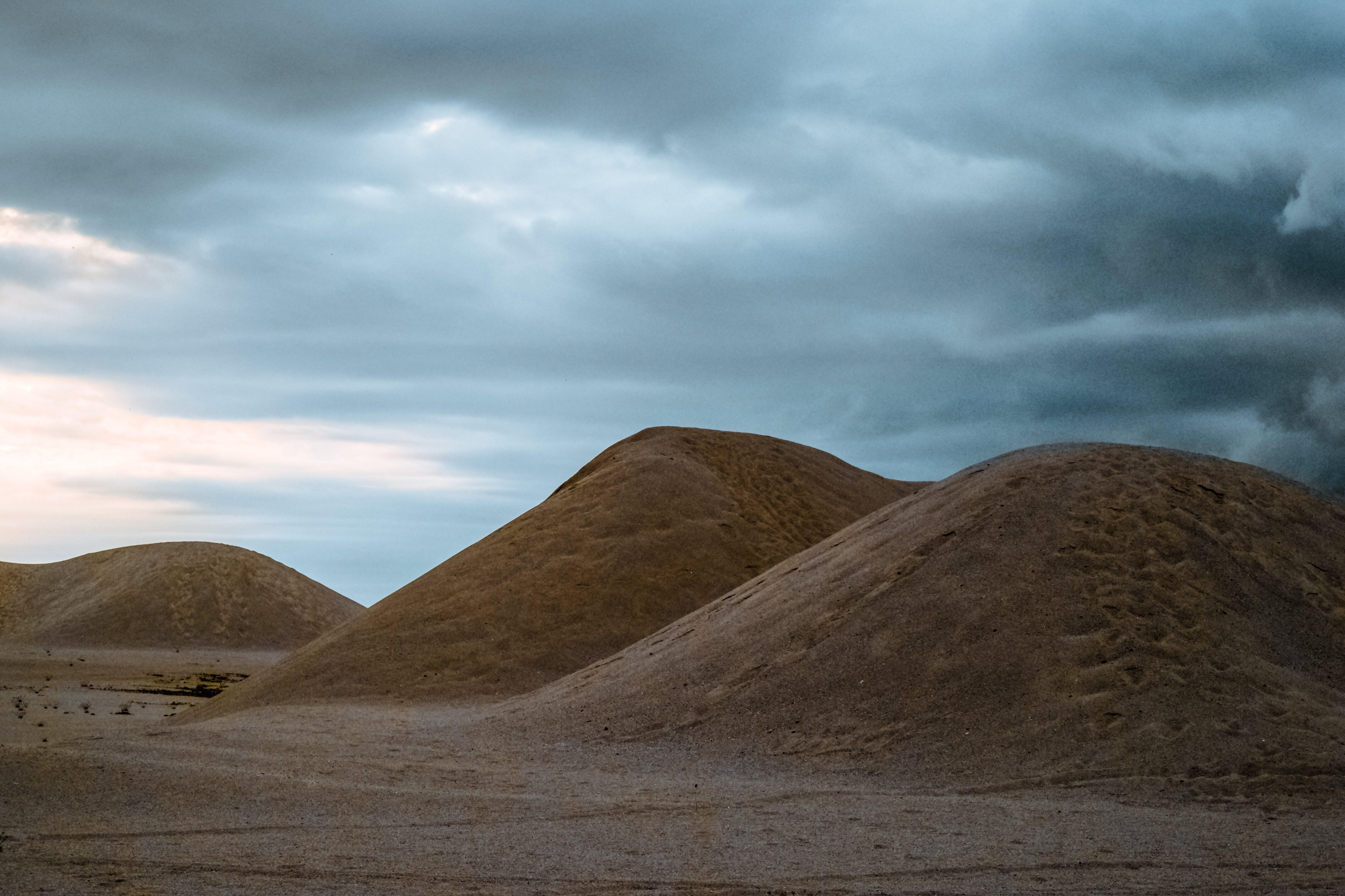 Desert during Cloudy Sky