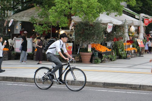 Free stock photo of asian, asian guy, bicycle