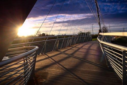 Free stock photo of architecture, bridge, sky, sunset