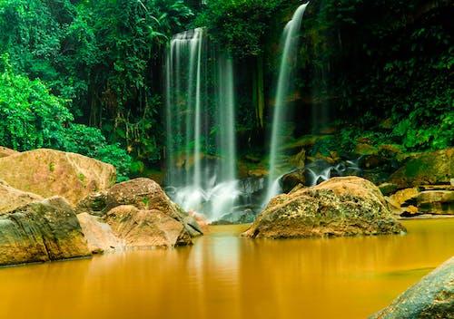 Photos gratuites de cambodgien, kulen, siemreap, waterfal