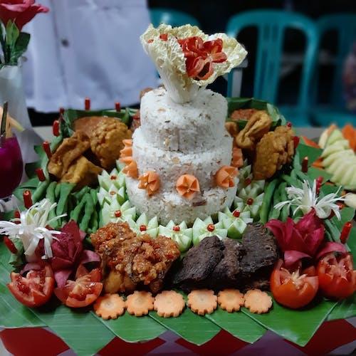 Free stock photo of nasi tumpeng liwet