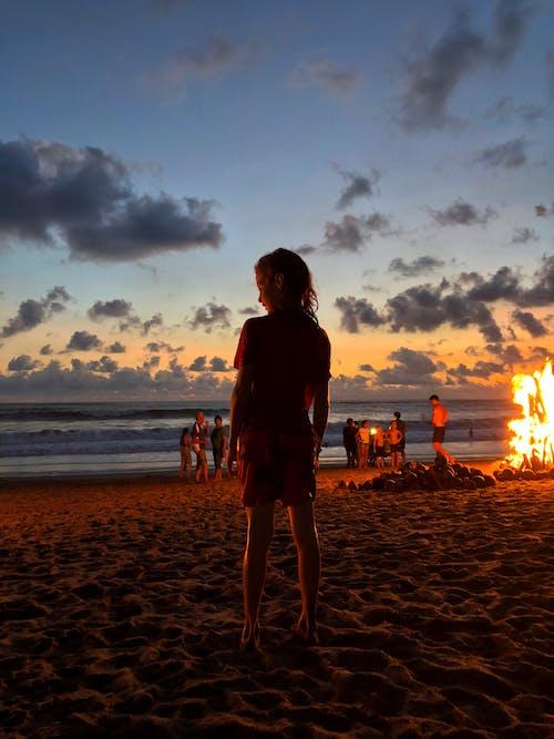 印尼, 女孩, 巴厘島, 日落 的 免費圖庫相片