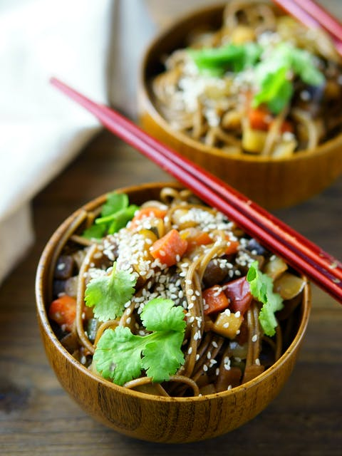 Noodles With Vegetable in Bowl