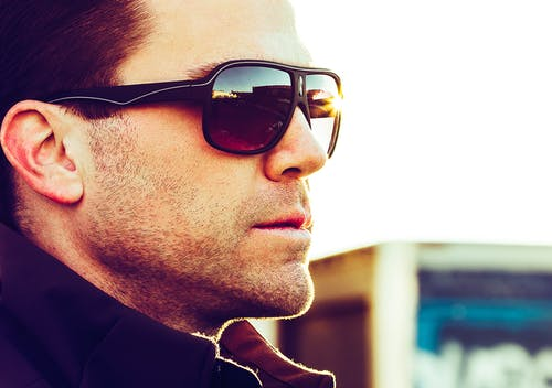 Men's Brown Sunglasses With Black Frames