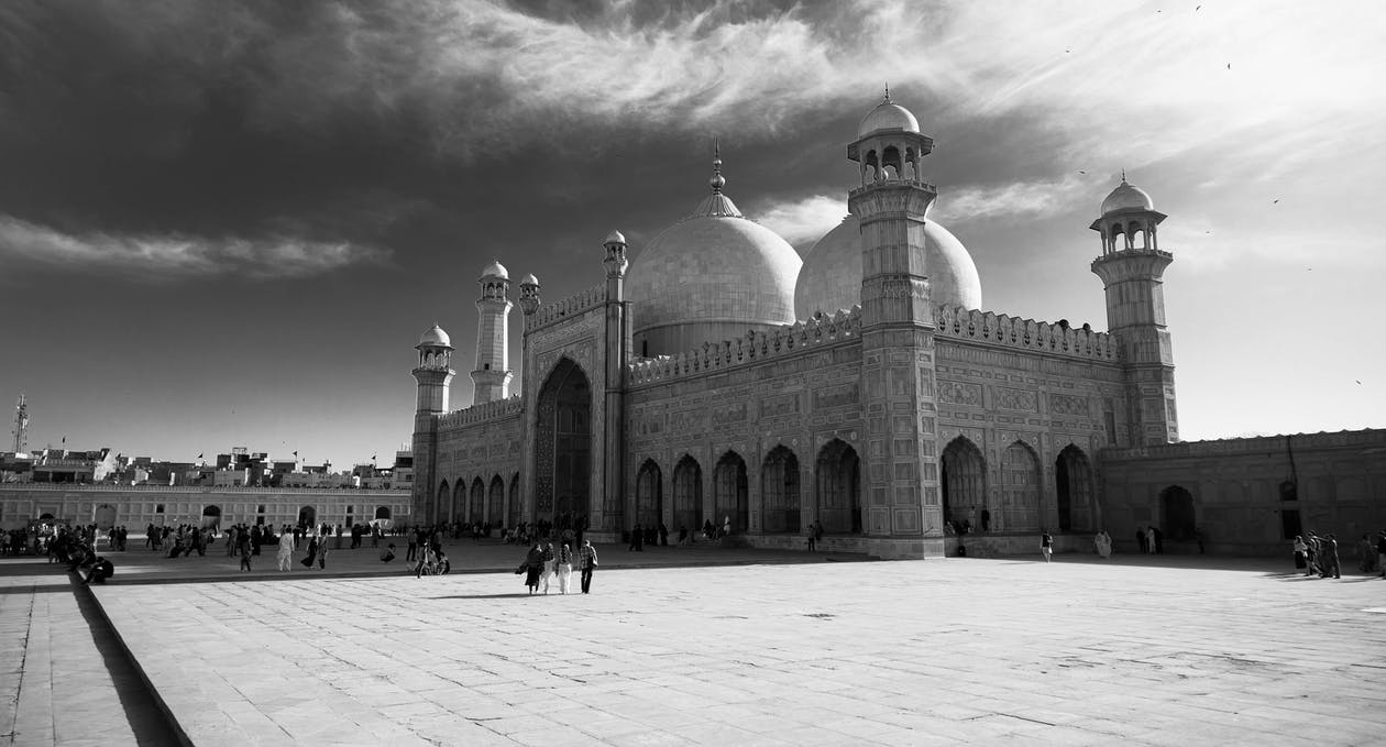 صوره فوتغرافية لمسجد تصوير ابيض واسود