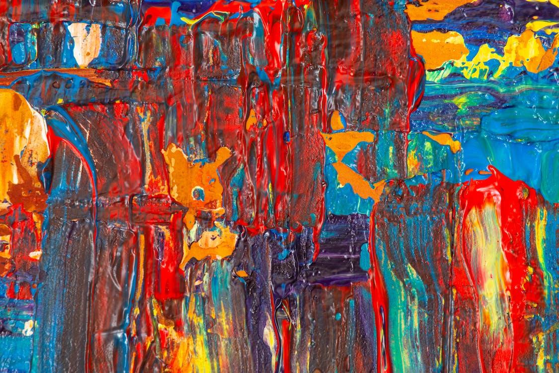 akrilik boyama, alaca bulaca, artistik