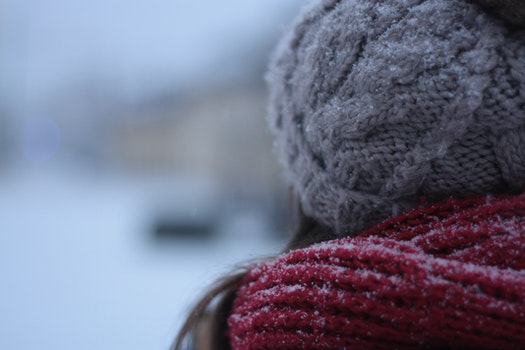 Free stock photo of cold, snow, winter, hat