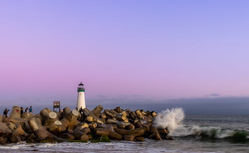 Lighthouse and Boulders