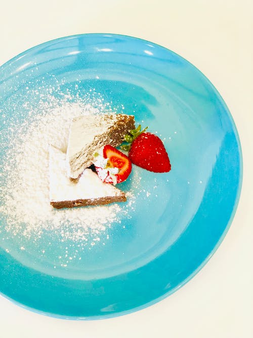 Foto d'estoc gratuïta de blau i vermell, felicitat, maduixes, menjars casolans