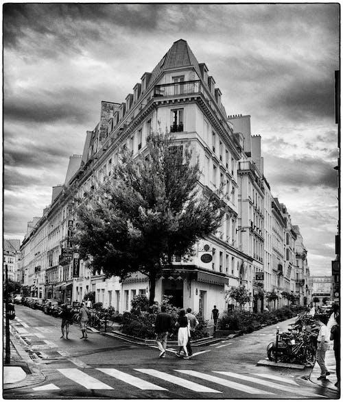 Free stock photo of architecture, Dark Sky, dramatic sky, old street