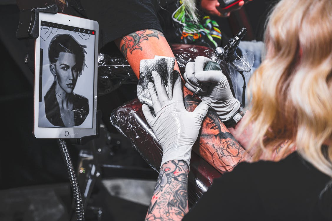 Female Portrait Tattoo