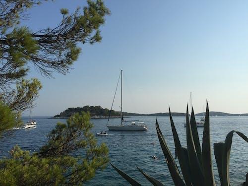 夏天, 島嶼, 帆船, 海 的 免費圖庫相片