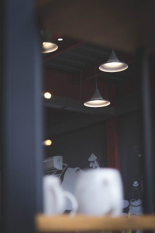 Gratis lagerfoto af kaffe, lys