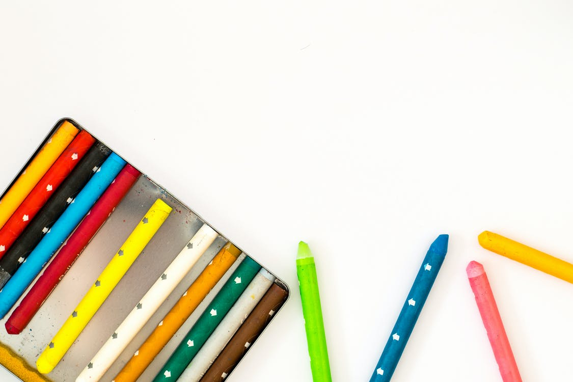 ความคิดสร้างสรรค์, ดินสอสี, ผสมผเส