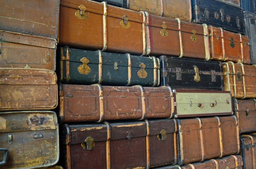 คลังภาพถ่ายฟรี ของ กระเป๋าเดินทาง, กอง, การท่องเที่ยว, การออกเดินทาง