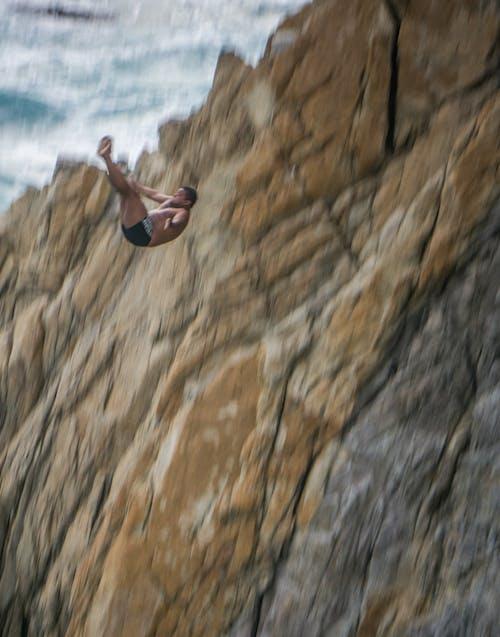 คลังภาพถ่ายฟรี ของ กระโดด