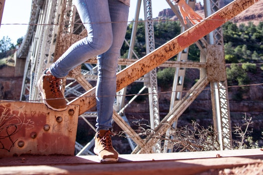 Free stock photo of person, legs, construction, bridge