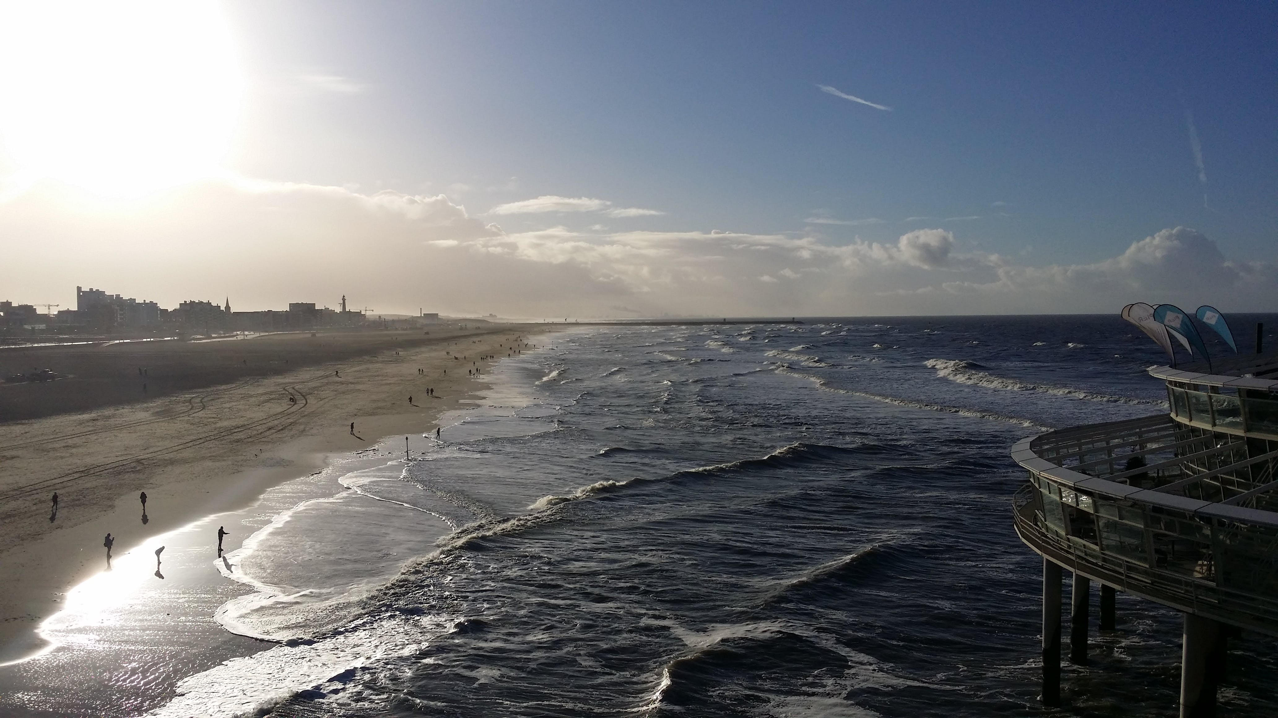 Free stock photo of beach, wave, sunshine, pier