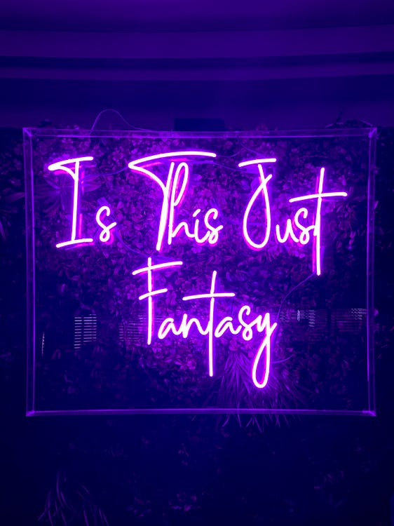 Is This Just Fantasy Neon Sign