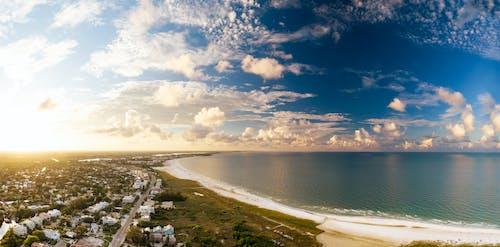 Ảnh lưu trữ miễn phí về bờ biển, bối cảnh, buổi sáng, chụp ảnh trên không