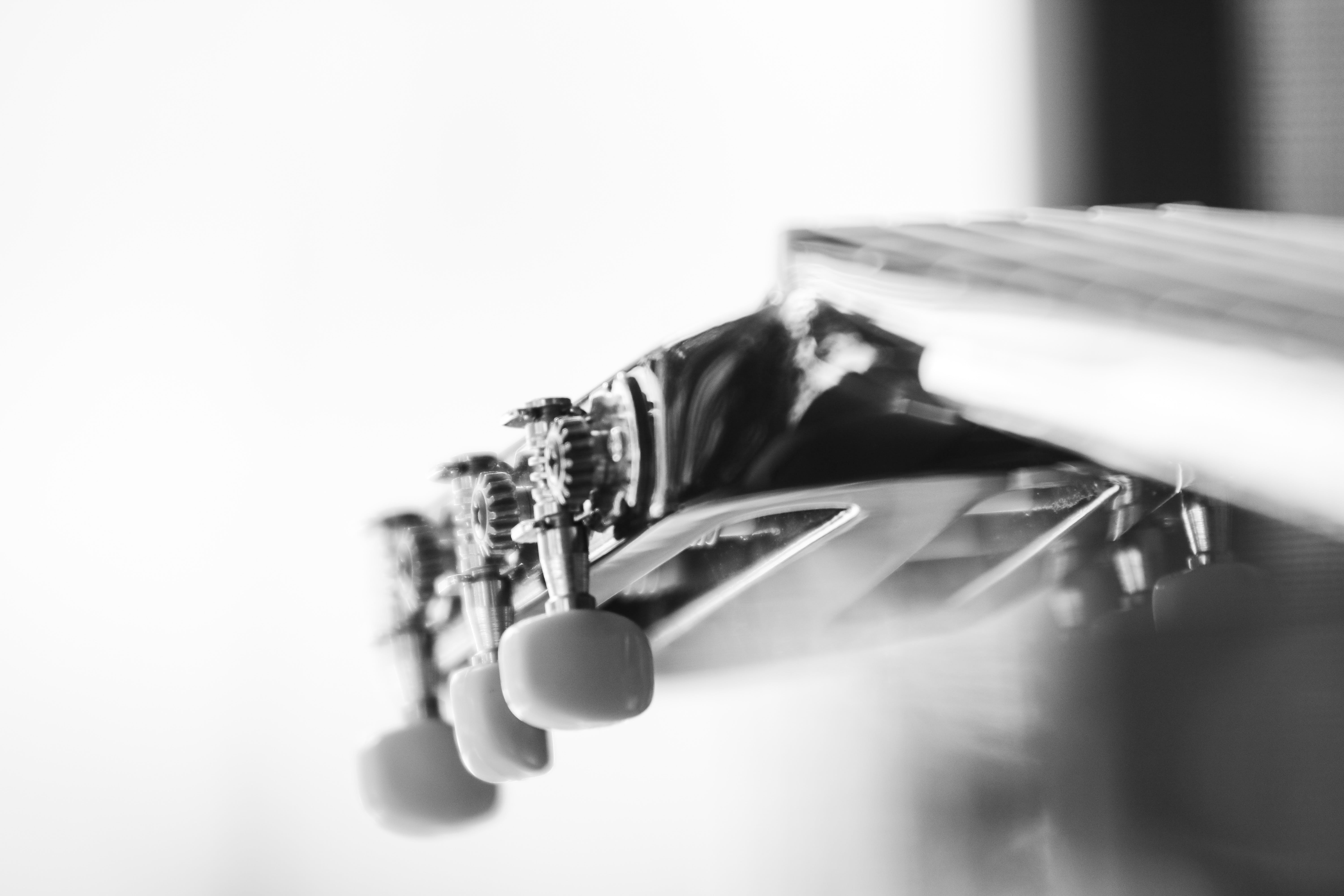 Free stock photo of acoustic guitar, black and white