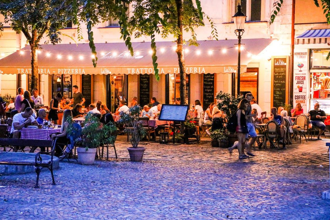 夜生活, 餐廳 的 免費圖庫相片