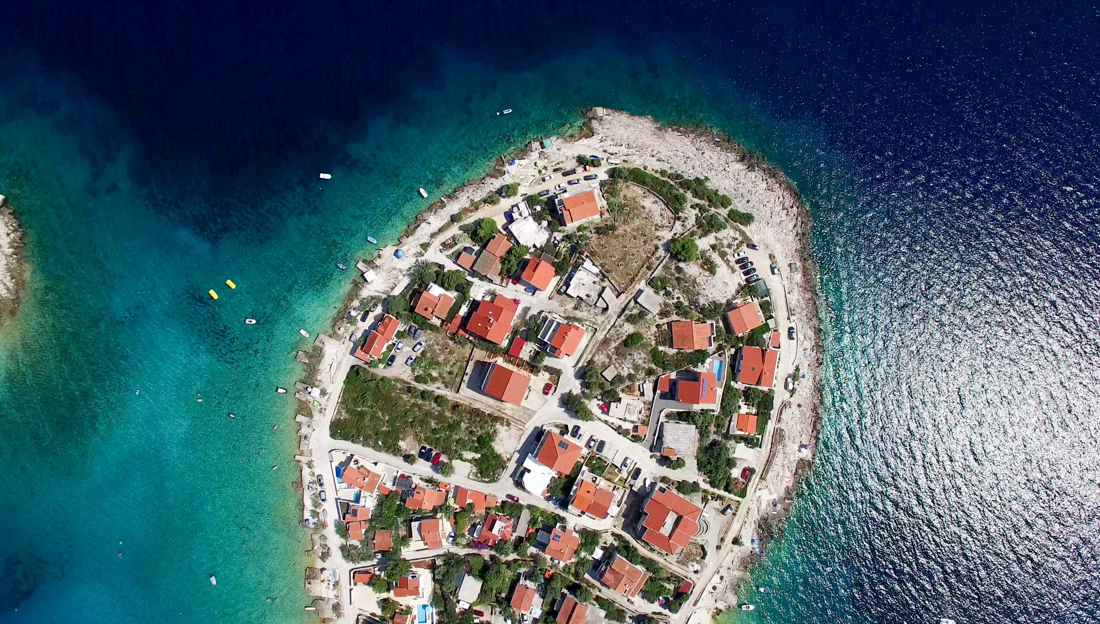 Aerial Photo of a Island