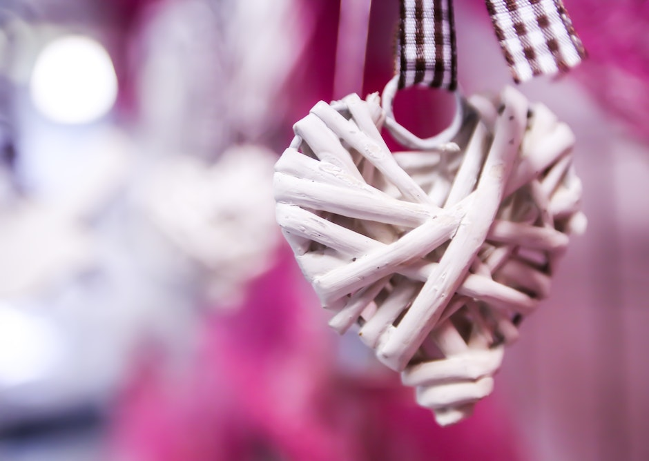 Close-up of Heart Hanging
