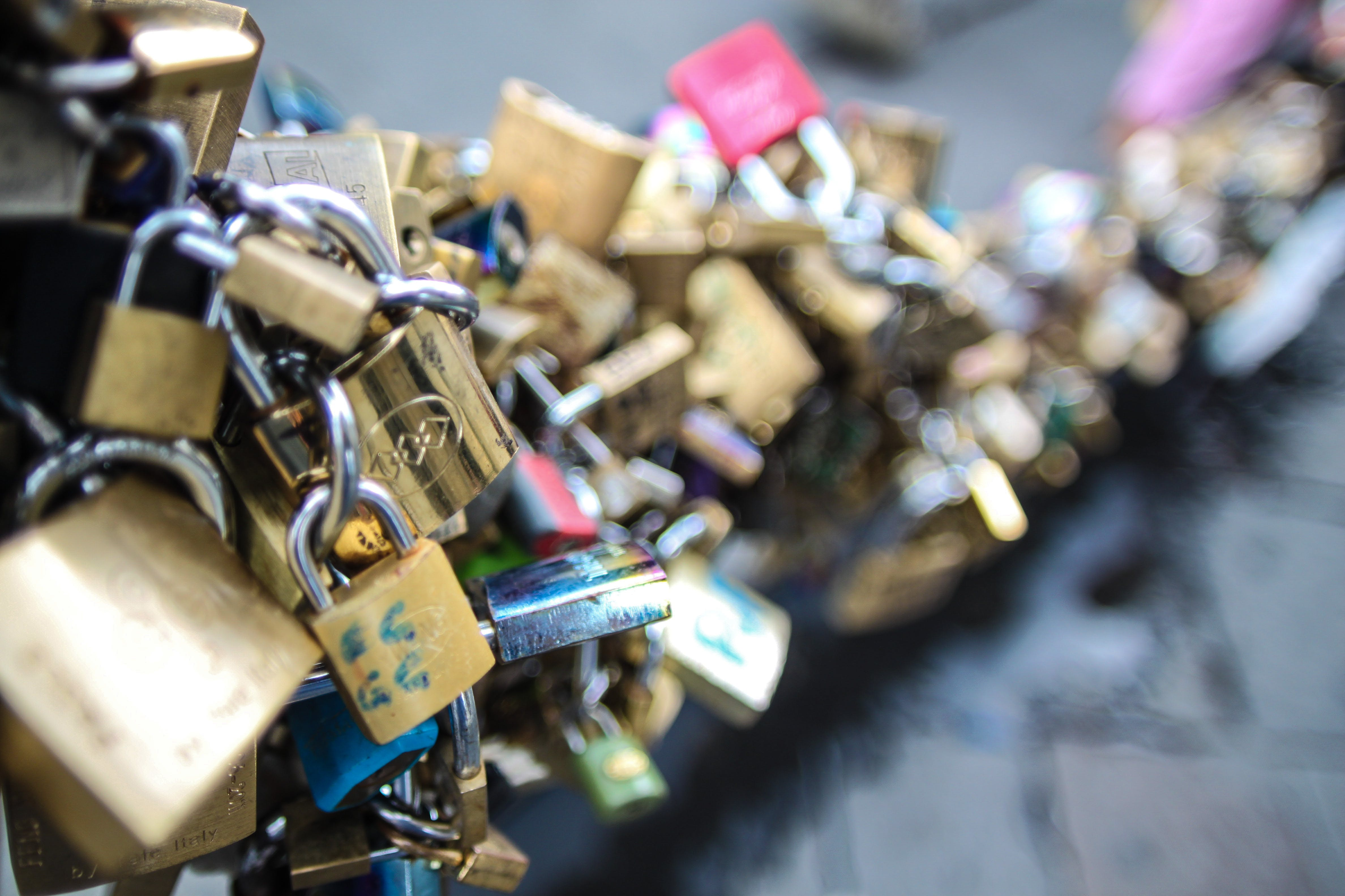close-up, engagement, locks
